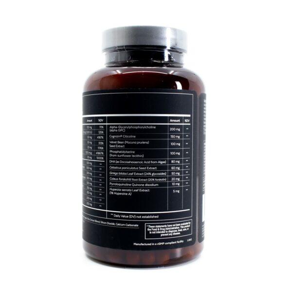 Qualia Mind Caffeine Free Bottle showing Supplement Facts