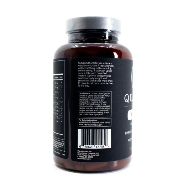 Qualia Mind Caffeine Free Bottle showing Label