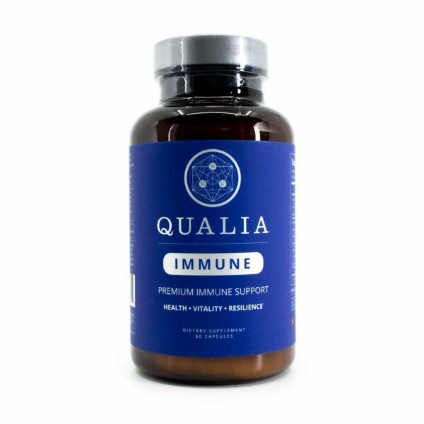A bottle of Qualia Immune 75