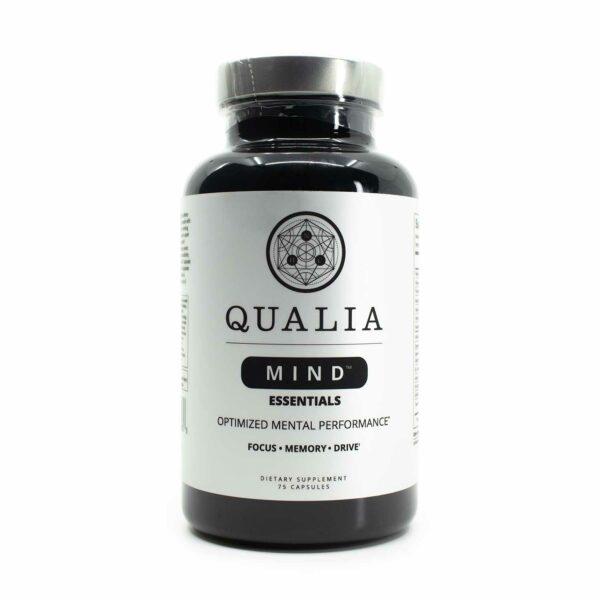 A bottle of Qualia Mind Essentials 75